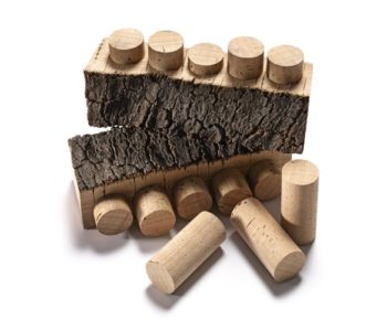 Wine corks cut out from the cork bark
