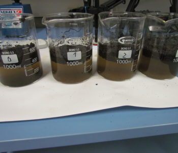 Laboratory tests - oil spill on water