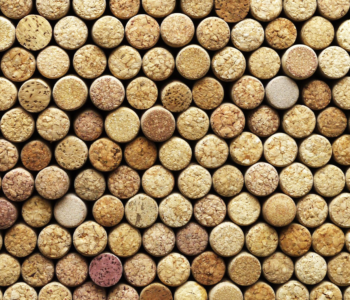 Wine corks made from cork granules